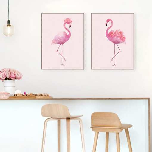 resize,m fill,w 510,h 510 - Minimalist Watercolor Pink Flower Flamingo