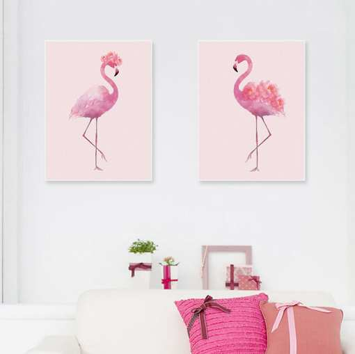 resize,m fill,w 510,h 509 - Minimalist Watercolor Pink Flower Flamingo